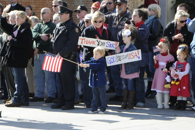 Citizens of all ages turned out to show their support for veterans during the Veterans Day parade in Knoxville, TN.