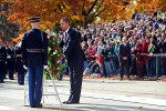Obama lays wreath on Veterans Day 2011