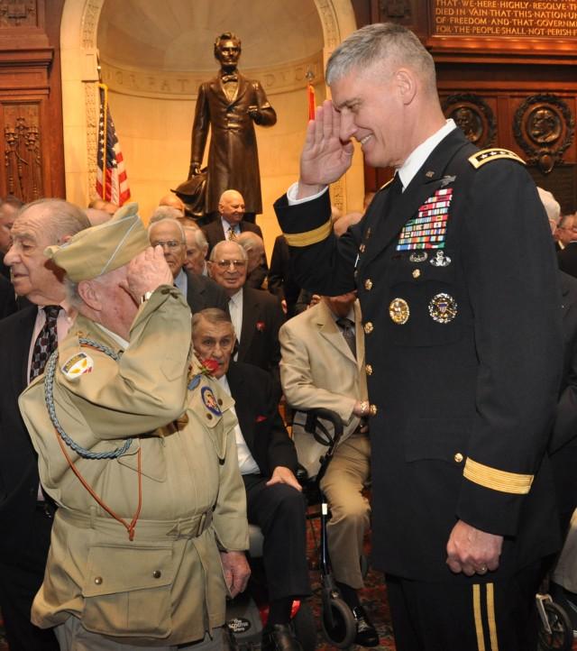 Rodriguez receives historic award, celebrates veterans in return to home area