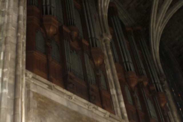 Since the first recital on Nov. 12, 1911, the West Point Cadet Chapel organ has expanded from 2,400 pipes to roughly 23,500 today and it is estimated about 1,500 hold their original position. There are five all-pipe organs at West Point, and the one at the Cadet Chapel is the world's largest within a house of worship.