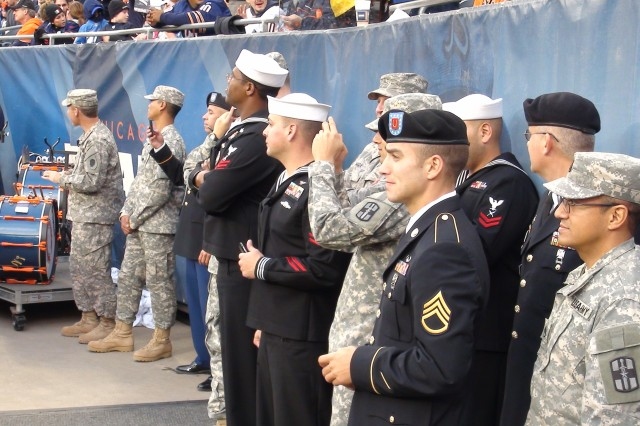 Service members get close up view of Veteran's Day game