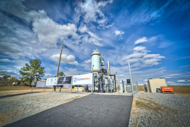 A power station designed to capture methane and turn it into electricity was installed at a landfill on Fort Benning, Ga.