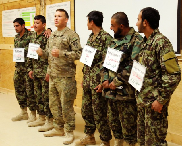 Afghan security forces learn about counterinsurgency