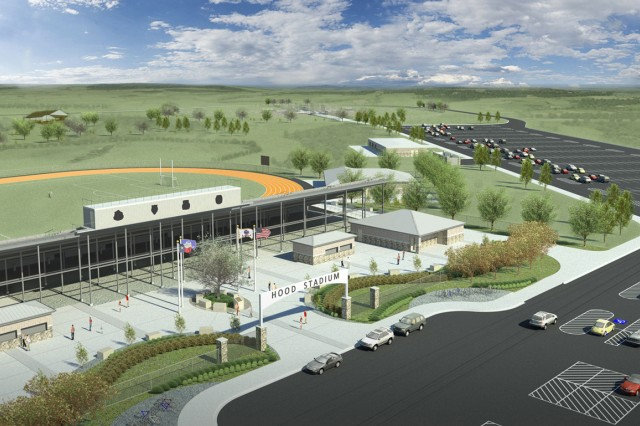 This graphic illustration shows the layout of the new Hood Stadium, set to be completed in late summer/early fall 2012.