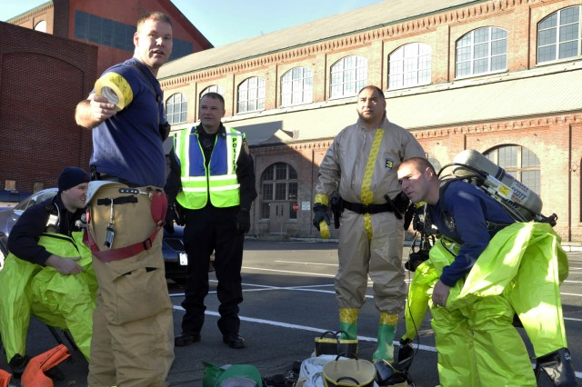 Watervliet Arsenal first responders get ready to neutralize a chemical attack. The Watervliet Arsenal hosted emergency first responders from four New York counties in the largest exercise of this type in the New York Capital District.