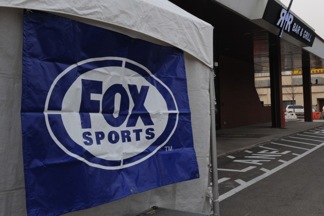 Fox Sports is preparing to broadcast live from the R&R Bar & Gril on Yongsan Garrison during their Thanksgiving Day coverage of the Detriot Lions-Green Bay Packers game.