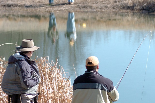 Fishing trips such as those sponsored by Project Healing Waters help Soldiers focus on something besides a barrage of medical appointments. The Project's program provides basic fly fishing, fly casting, fly tying and rod-building classes, along with clinics for wounded and injured personnel ranging from beginners to those with prior fly fishing and tying experience who are adapting their skills to their new abilities. Fishing trips also are provided at no cost to the participants.