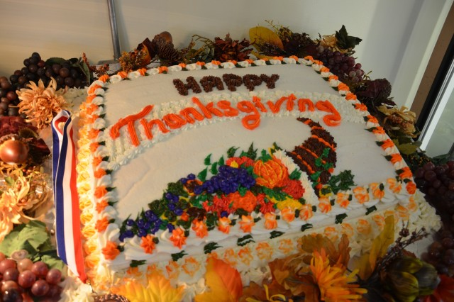 The staff of the McGregor Range dining facility created a variety of tasty and beautiful desserts to lift the spirits of Soldiers separated from their families at Thanksgiving.