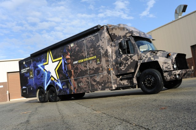 The Army will unveil the Science, Technology, Engineering and Mathematics Asset Vehicle during All-American Bowl Week Jan. 6 in San Antonio. Before the vehicle's official launch in January, students from seven Maryland schools will have an opportunity for a hands-on look.