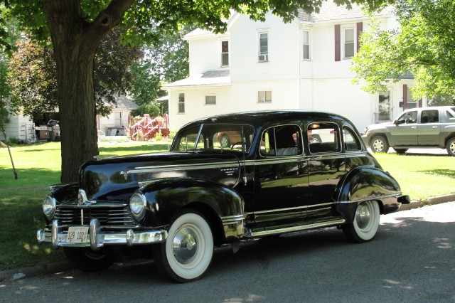 In addition to this 1951 Hudson Pacemaker, Cooper owns a black 1947 Hudson Commodore Eight.