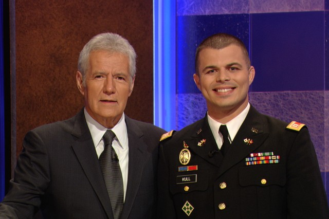 Answer: A Fort Carson Soldier; Question: Who competed on Jeopardy?