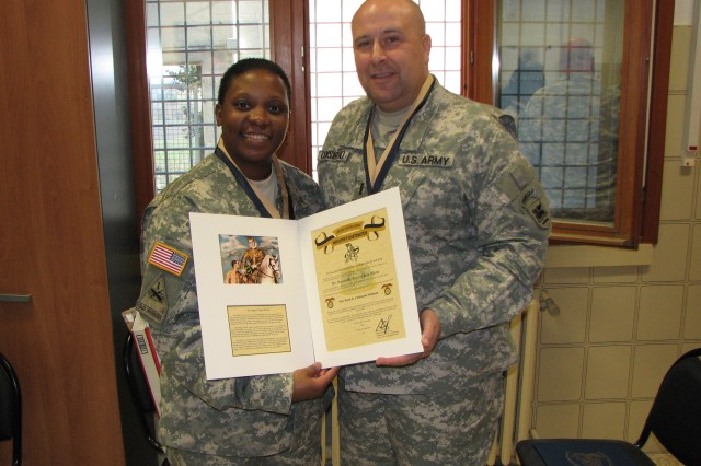U.S. Army Africa logistics' Soldiers earn Quartermaster Corps honors