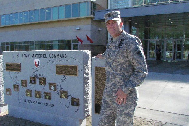 Command Sgt. Maj. Ronald Riling, a highly decorated war veteran, is proud to serve with the civilians and Soldiers who make up the Army Materiel Command. The war memorial in front of the command's headquarters is testimony to its commitment to supporting the war fighter.