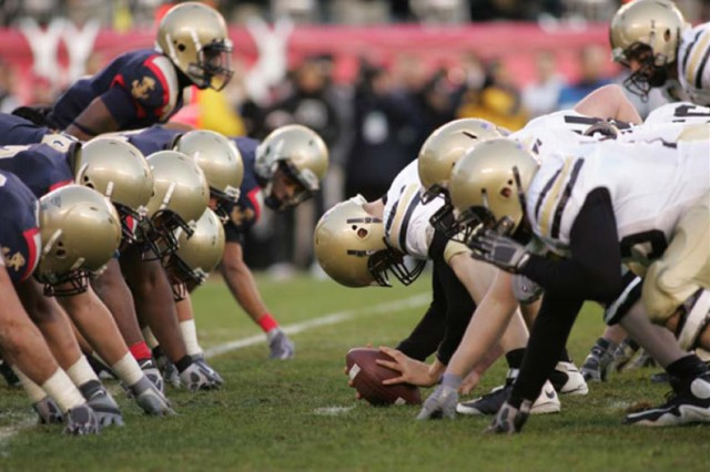 The Army and Navy football teams have been rivals for more than 100 years.