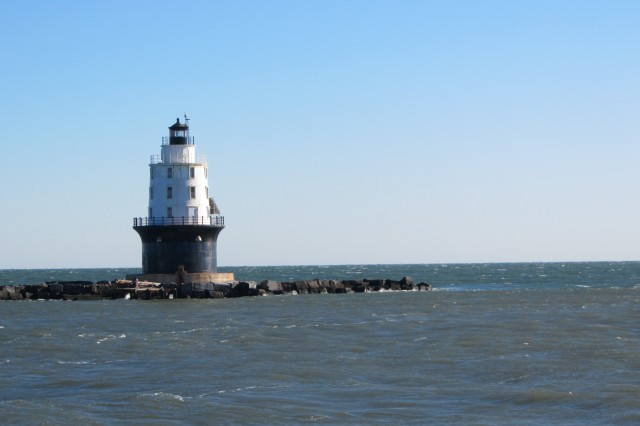 The U.S. Army Corps of Engineers' Philadelphia District recently completed repairs to the Harbor of Refuge breakwater. The breakwater and the historic lighthouse that sit on top are listed in the National Register of Historic Place.