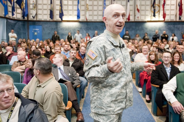 Maj. Gen. Justice says goodbye to Natick