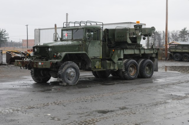 Outdated and obsolete military vehicles and construction equipment are stored at Fort Drum, N.Y. Department of Defense, federal, state and local agencies have the opportunity to request the surplus equipment for their own use through the Defense Logistics Agency Disposition Services here.
