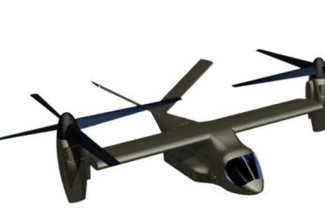 Conceptual graphic illustration of a potential future Joint Multi-Role configuration for the next-generation helicopter.