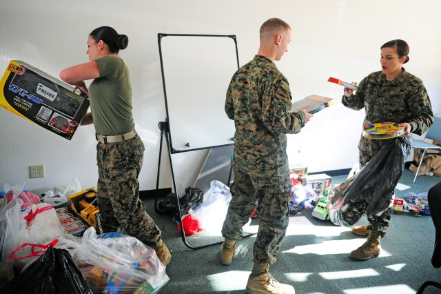 Monterey service members add toys, joy to Christmas