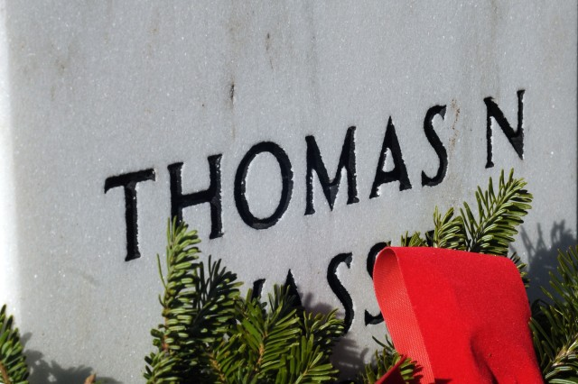 This year, about 85,000 wreaths made their way from Maine to the Arlington National Cemetery in Arlington, Va., to be laid by volunteers at grave stones there, Dec. 10, 2011, as part of the 20th annual Wreaths Across America event.