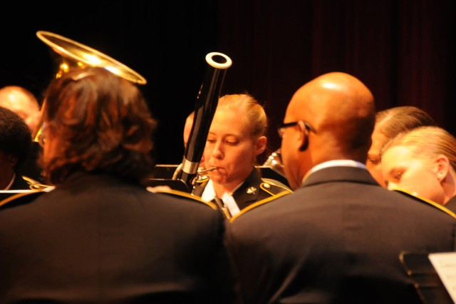 The 208th Army Reserve Band performs its annual Holiday Concert at the Newberry Opera House in Newberry, S.C. on December 10. The band performed a variety of Christmas favorites much to the enjoyment of a full house. Pictured is Sgt. Shana Hintz of High Point, N.C. on the bassoon.