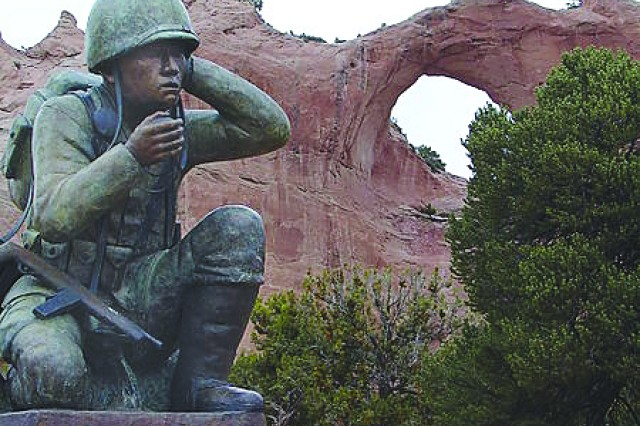 PICATINNY ARSENAL, N.J. - A monument to Navajo Code Talkers in Window Rock, Ariz.