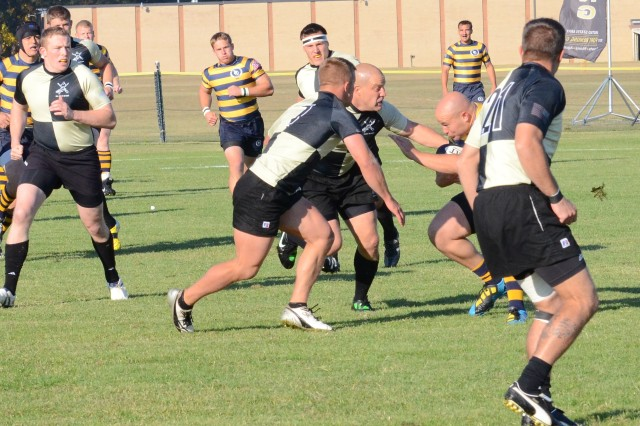 Sergeant Matt Rutkowski, Co. D, 4/3 Avn, stationed at Hunter Army Airfield, played for the All-Army Rugby team during the Armed Forces Championship at Fort Benning, Ga., in November.