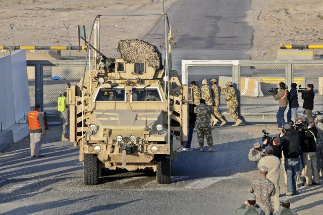 Greywolf Brigade last to convoy out of Iraq