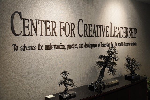 GREENSBORO, N.C. (Dec. 5, 2011)  The mission statement of the Center for Creative Leadership (CCL) inside the front entrance of the facility here.