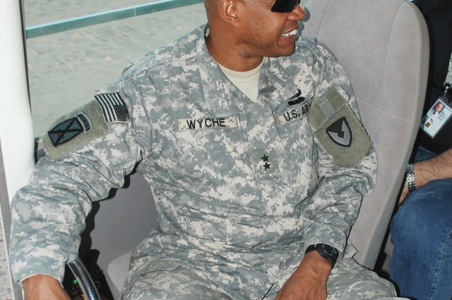 Army Materiel Command G-3 tours Camp Virginia, Kuwait, for lessons learned