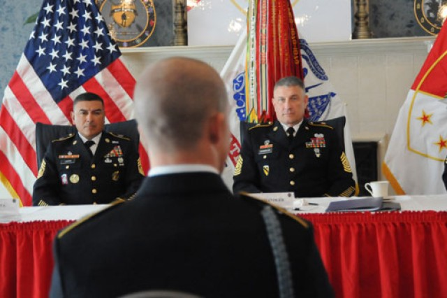During the board appearance, Best Warriors faced Sgt. Maj. of the Army Raymond Chandler and six other sergeants major from around the Army, who grilled them on their knowledge of military subjects and current events.