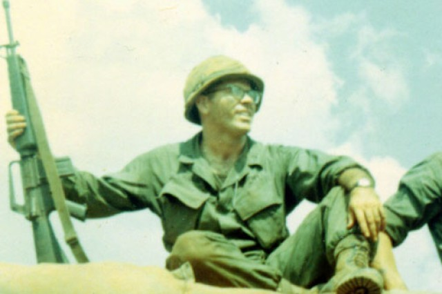 Then-1st Lt. Homer Hickam takes a break during the Tet Offensive in January 1968. Oasis, the small firebase near the Cambodian border where he was temporarily stationed during the attacks, was almost overrun by the North Vietnamese. He said Air Force F-100s based in Thailand eventually saved his unit.