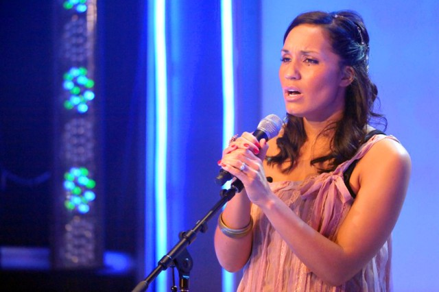 U.S. Army Reserve Sgt. Melissa Neal, a former active duty Soldier and current Army wife and mother, won the 2011 Operation Rising Star singing contest at Fort Sam Houston, Texas.
