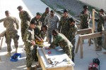 Afghan engineers learn basic carpentry skills