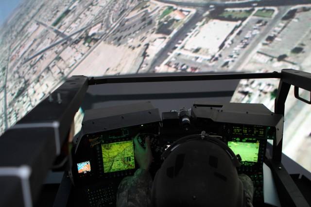 Up in the Apache Flight Simulator