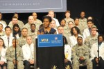 Michelle Obama speaks at Virginia Commonwealth University