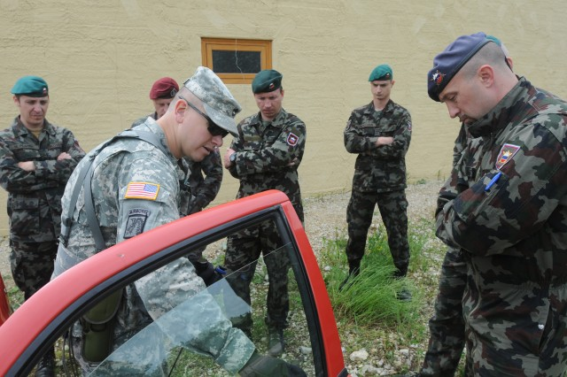 U.S. Soldiers worth with NATO allies at JMRC