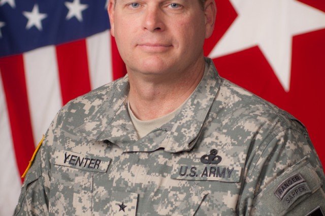 Brig. Gen. Yenter is scheduled to be promoted to the rank of major general Jan. 18, 2012.