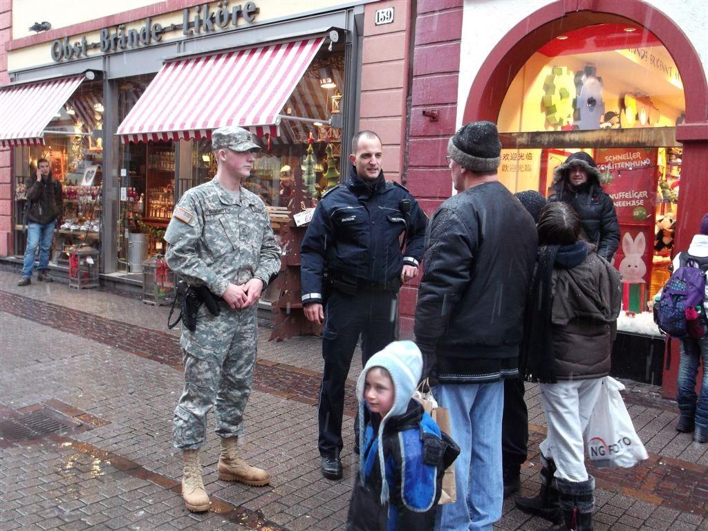 German American Joint Police Patrols Keep Community Safe