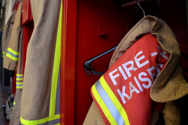 Garrison firefighters help douse blaze