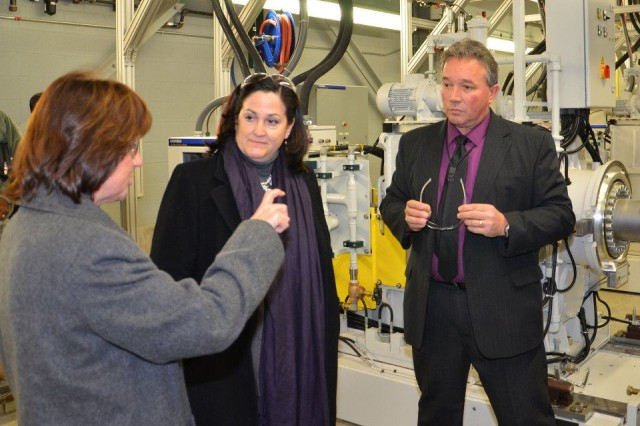 Katherine Hammack, Assistant Secretary of the Army for Installations, Energy and the Environment toured the new Ground Systems Power and Energy Laboratory (GSPEL) currently under construction at the Detroit Arsenal in Warren, Michigan.
