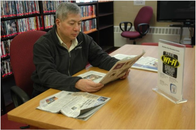 Community members can enjoy books, magazines, print and copy services and free DVD rentals.