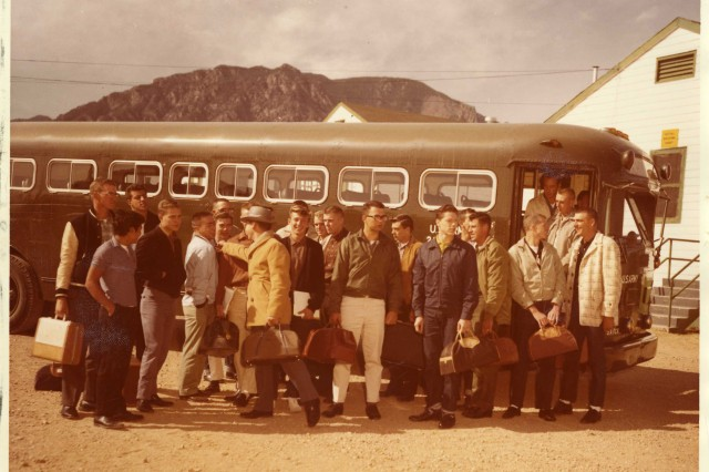 FORT CARSON, Colo. -- New recruits arrive for training at Fort Carson in the early 1960s.
