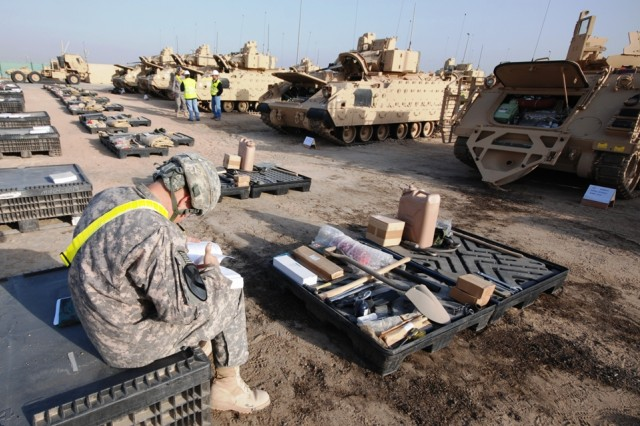 402nd AFSB issues equipment in Kuwait