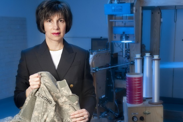 Carole Winterhalter, textile technologist at Natick Soldier Research, Development and Engineering Center, expects that wool will provide protection and comfort for Soldiers.