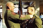 Marine promoted to top warrant officer rank