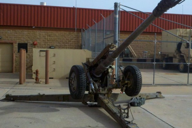Soldiers in B Company, 168th Brigade Support Battalion, restored D-30 122 mm howitzers to be used after being dormant for 20 years.