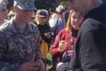 Celebraties, Soldiers at Pebble Beach golf tournament