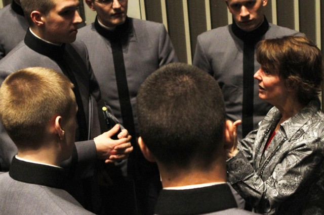 Dr. Sue Clark, a tenured professor at Washington State University, spoke with nearly 1,100 cadets Feb. 2 at Eisenhower Hall where she lectured on nuclear energy.