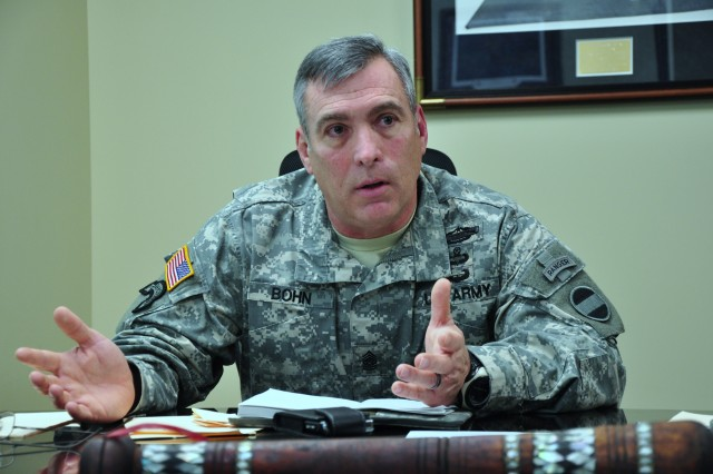 Command Sgt. Major Darrin J. Bohn refects on the past 90 days as U.S. Army Forces Command's top enlisted man.